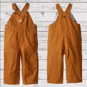 CARHARTT 2T Canvas Overalls - Flannel Lined